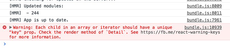 If you create JSX in a loop and don't provide a key attribute for each element, React will warn you.